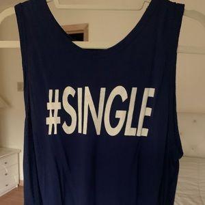 #Single Navy Muscle Tee